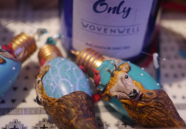 Ornaments Made From Upcycled Light Bulbs - at WoveWell