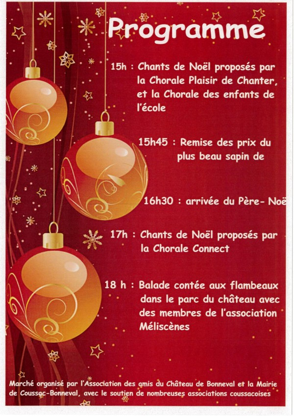 Events at the Château Bonneval Holiday Market December 19, 2015