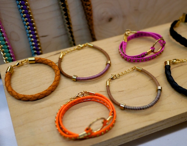 Cromwell Jewelry's colorful bracelets at Shwick