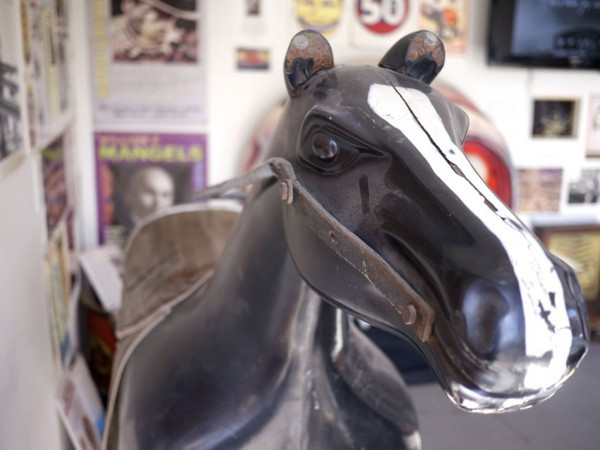 Original Steeplechase Horse at the Coney Island History Project