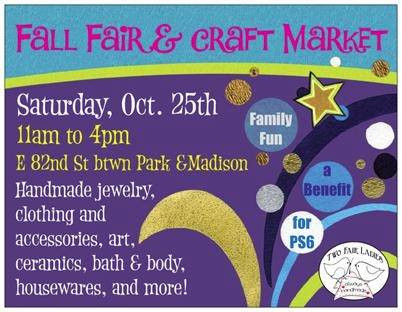 PS 6 Fall Craft Fair from Two Fair Ladies