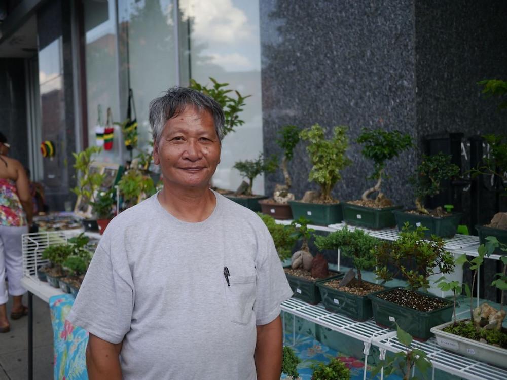 Ray nurtures his beautiful bonsai landscapes