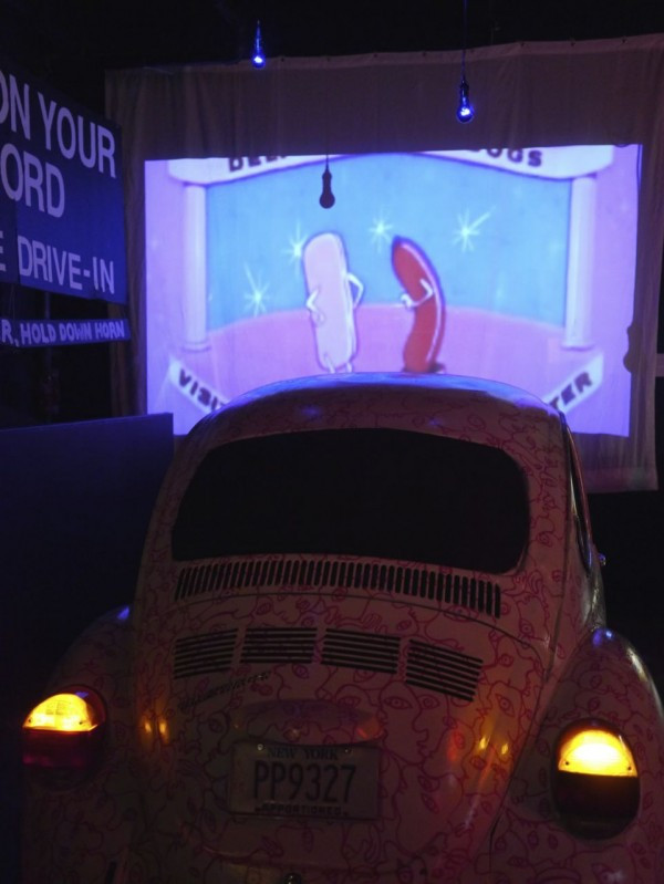 Drive-In Movie Art Installation at the Brooklyn Night Bazaar