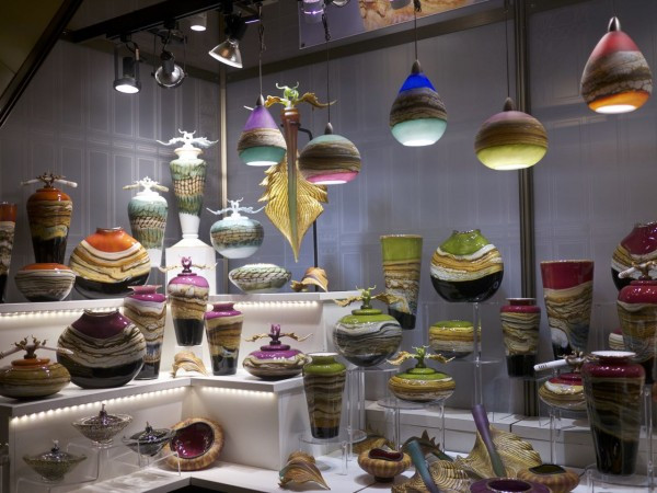 Luscious handblown glass art and home accessories By Gartner Blade Glass at Grand Central