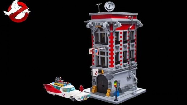 C3Brix LEGO Ghostbusters Firehouse