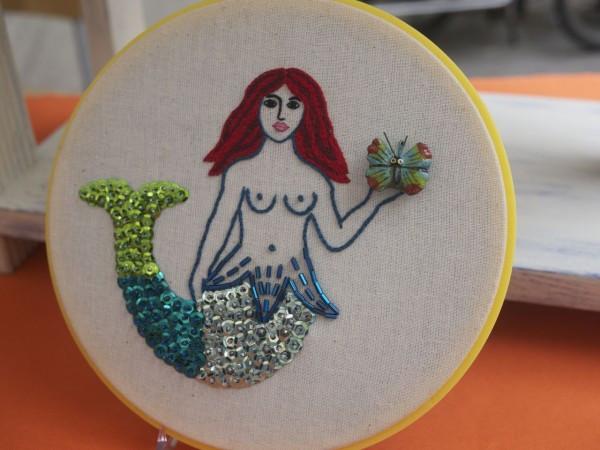 Mermaid Hoop Art by Snapdragon Originals