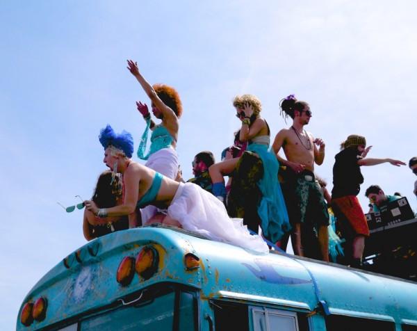 Mermaid Bus Anti-Fracking Party Bus