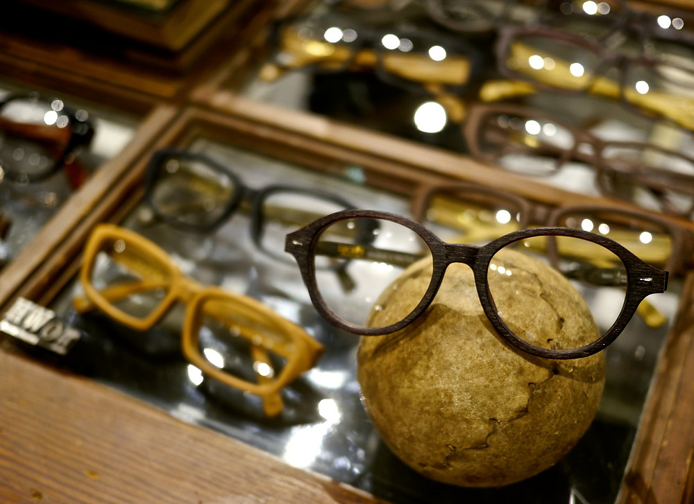 Wood textured glasses by Lucky Selectism