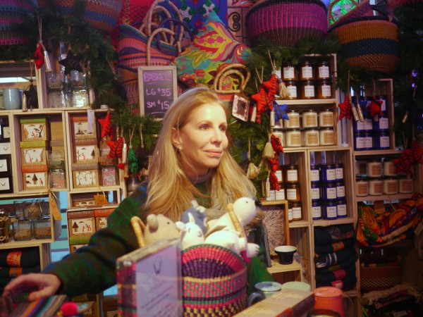 WovenWell Founder Kim Widener at the TSQ Gifted Holiday Market