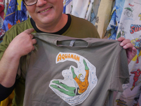 Design Your Own Vintage T-Shirt with Golly NYC (Mine Is Aquaman)