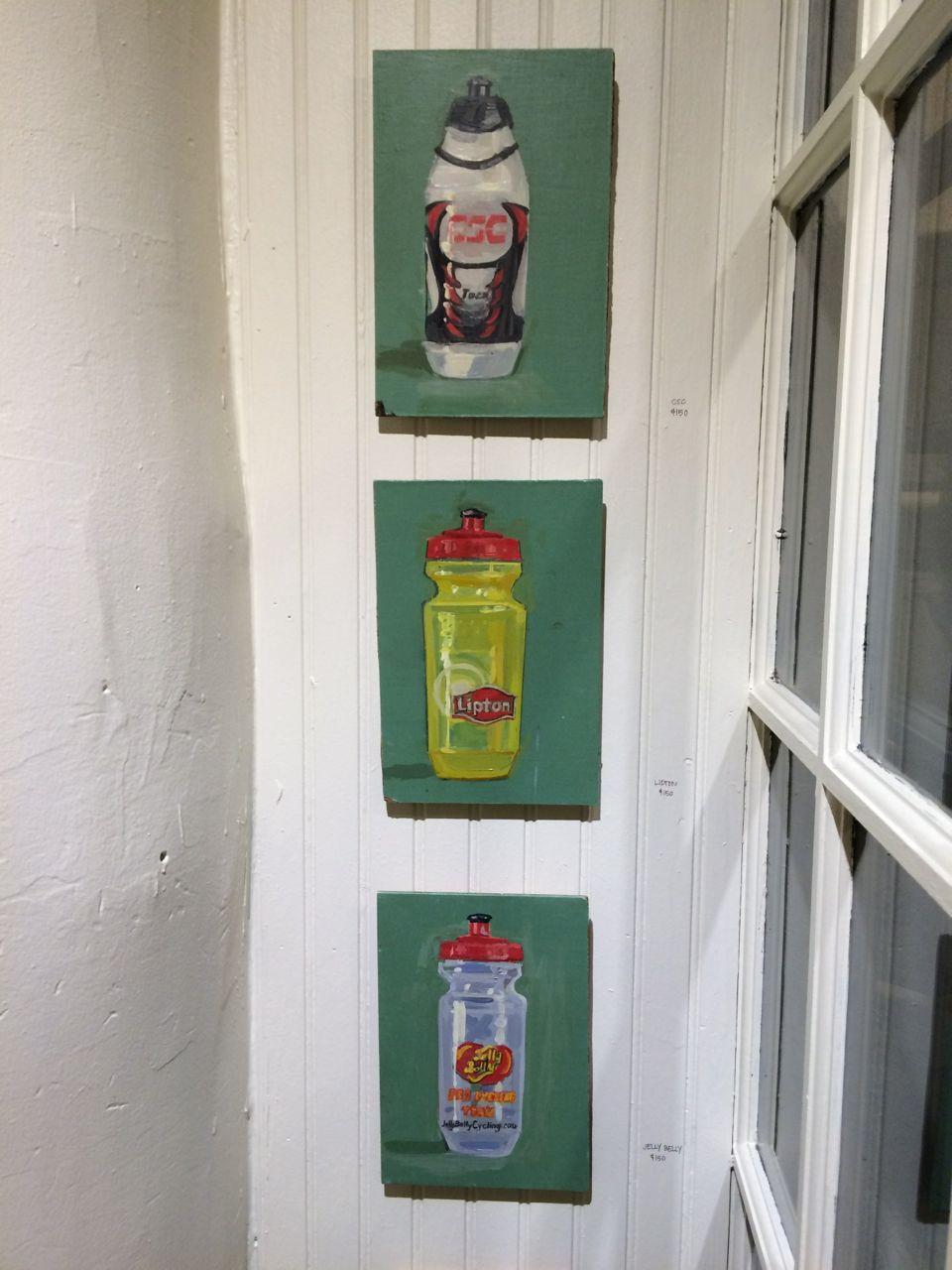 Paintings of Water Bottles by Taliah Lempert