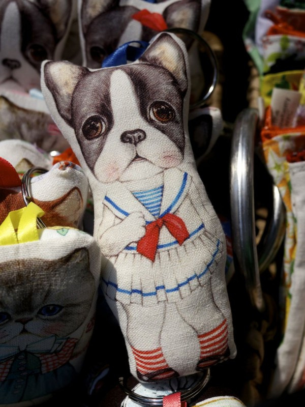 Try to resist a Boston Terrier in a sailor dress. Just try.