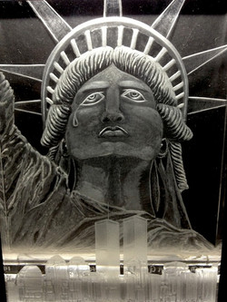 A Nation Grieves 2001-Art Engraving