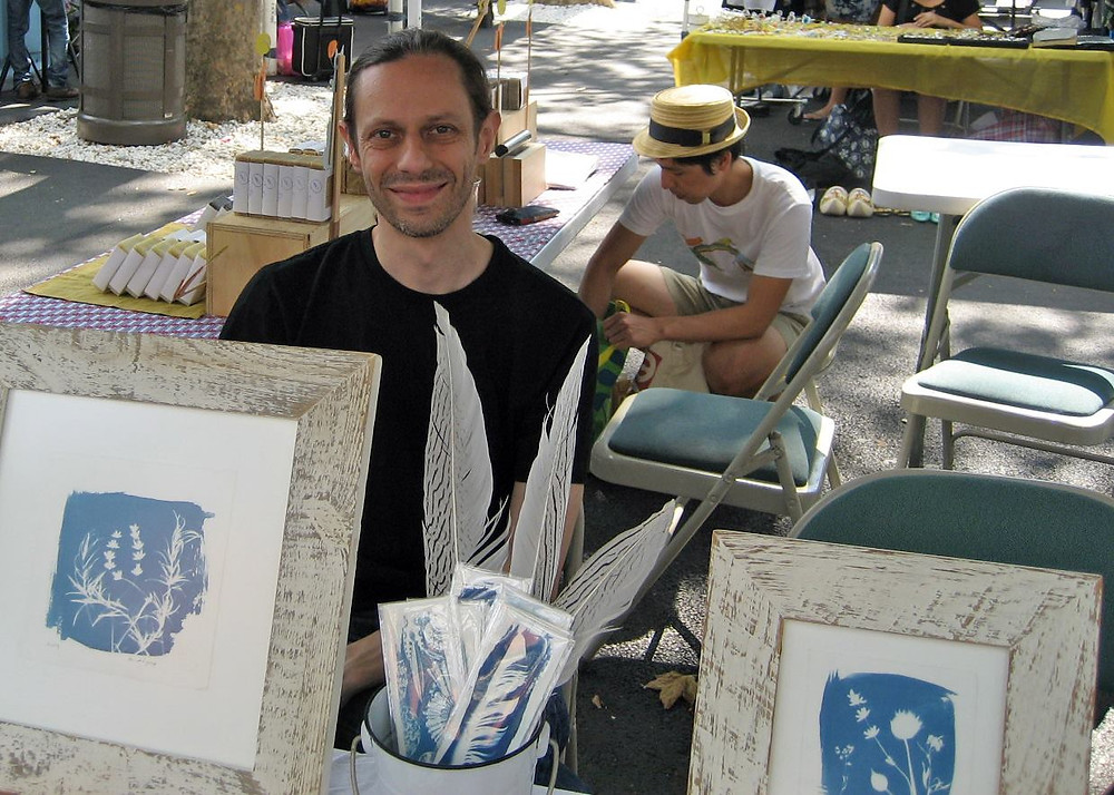 Matt Shapoff at the Hester Street Fair, his first market