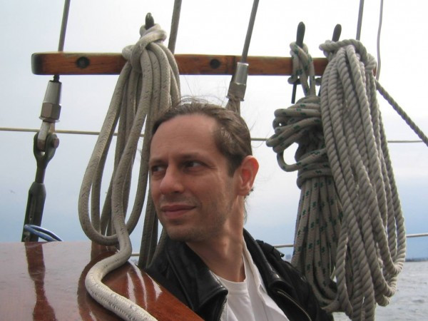 Matt Shapoff at home on a sailboat.