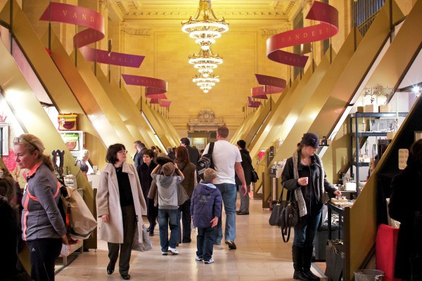 Shoppers Peruse the Grand Central Holiday Fair