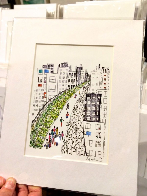 Illiustration of The High Line by Nadia Ackerman, Natchie Art