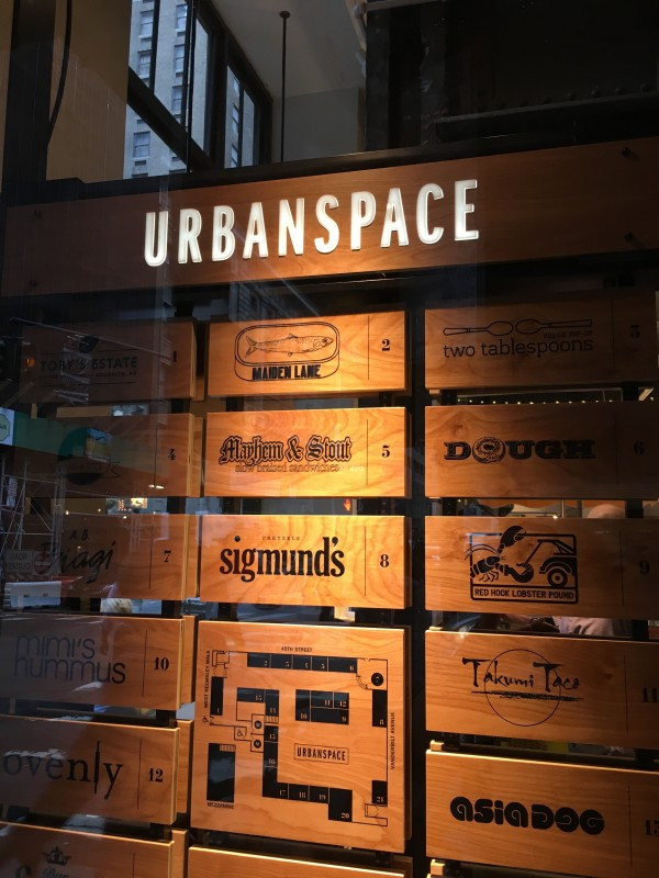 The many options at UrbanSpace Vanderbilt