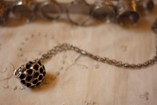Ann Arden Wasp Nest Necklace