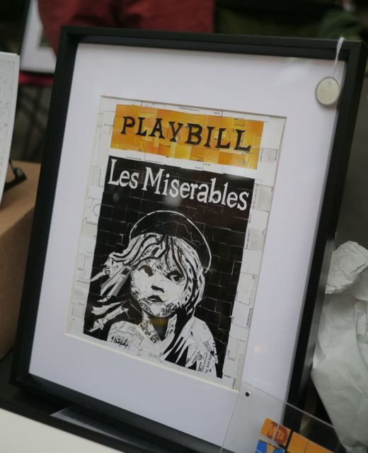 Les Miserables PlayBill, Metro Card Collages