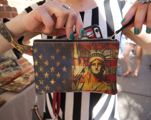 Stature of Liberty Wristlet by Insiders1 - It Holds Your Cellphone Too