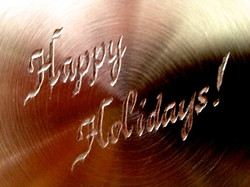 Hand engraving on copper cookware