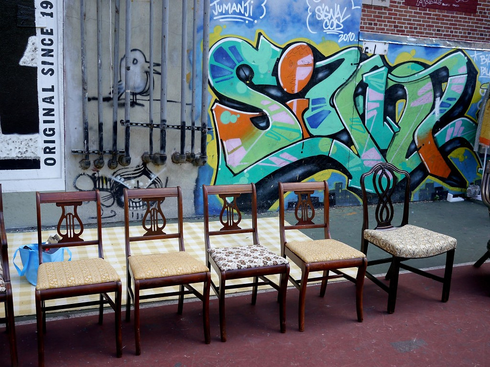 Vintage Chairs at the East Side Community School Flea