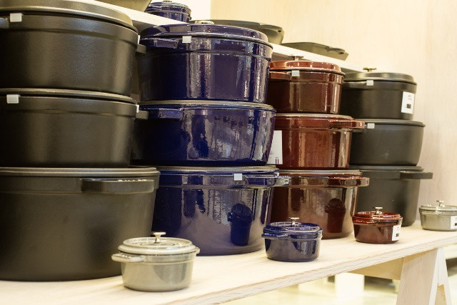 abcmkt carries a gorgeous line of Staub enamel cookware (my favorite)