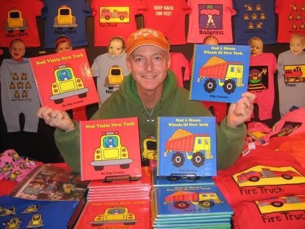 Kip Cosson in his market tent! (Photo courtesy of Kip Kids)