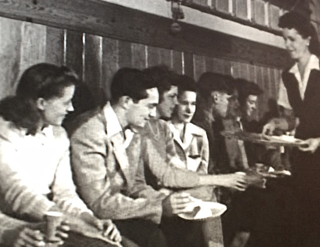 """My dad, Marvin Barr Seiger, in """"Letter To A Hero."""" He's the one holding the plate."""