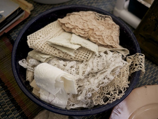 Bowl of Beautiful Antique Lace