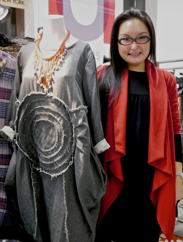 Angela Gao's uniquely draped and flattering fashion designs