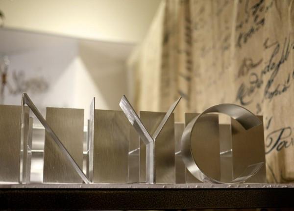 Gauge NYC's Handmade Block Letters