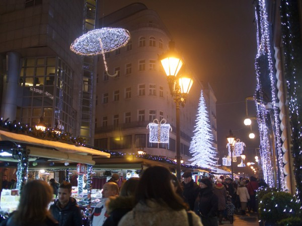 Vaci Street at the holidays