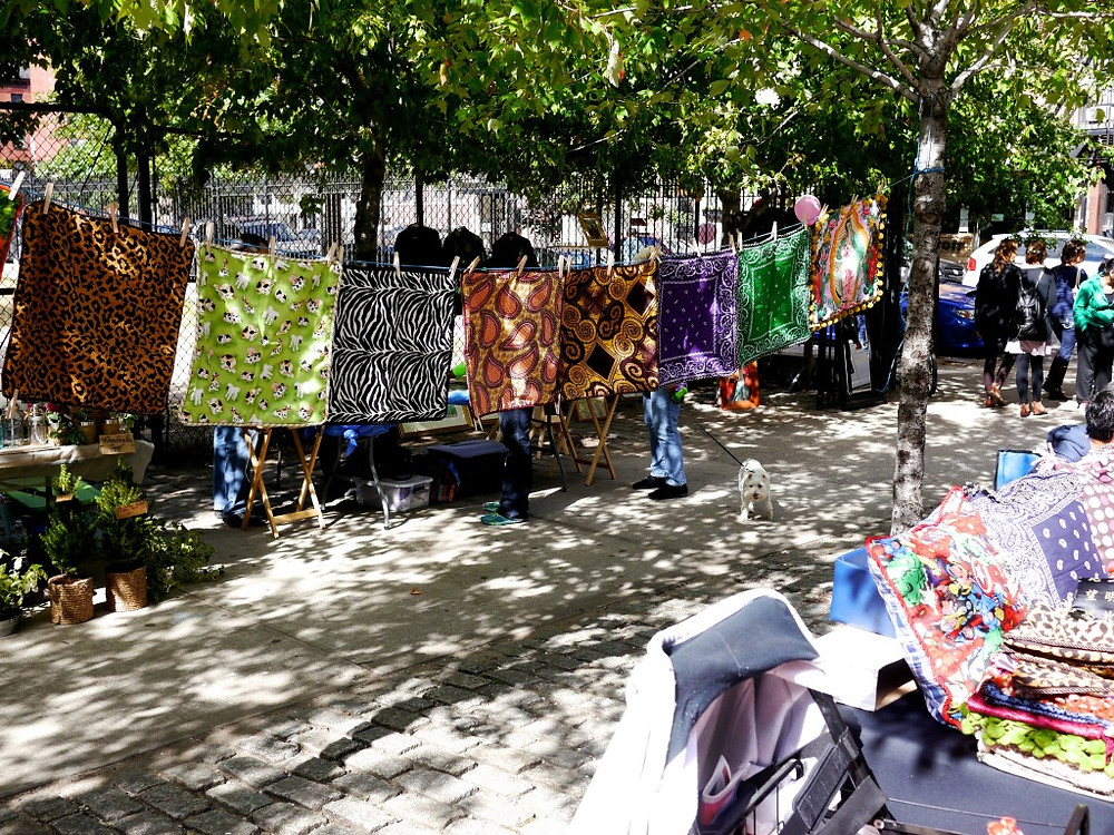Tapestries and Artisans at the East Side Community School Flea Market