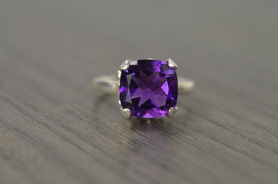 Edward Owl Darcy Ring with 4K African Amethyst Ring