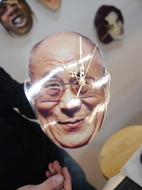 Who doesn't need a Dalai Lama Wall Clock?
