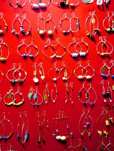 Lightweight, colorful earrings handmade by Kitty Rose LyfeStyle