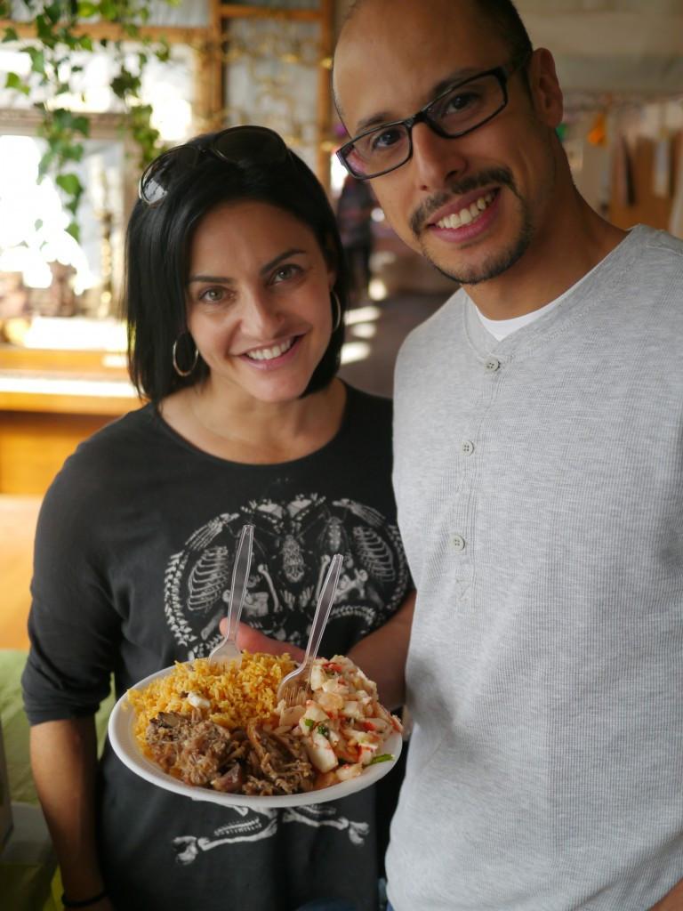 Big Plate of Caribbean Food at Flea Marqueta