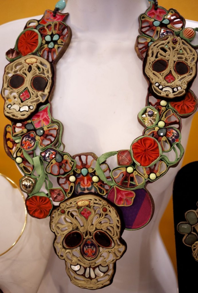 Day of the Dead Skull Necklace by Alicia P