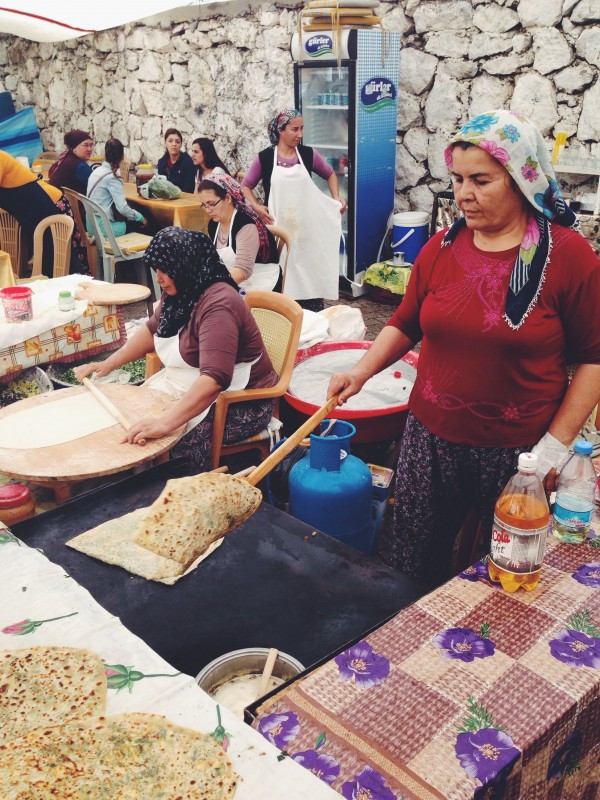 Market Ladies making Gozleme