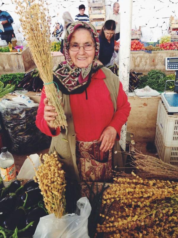 Meryam Selling Dried Ironwort Flowers for Tea