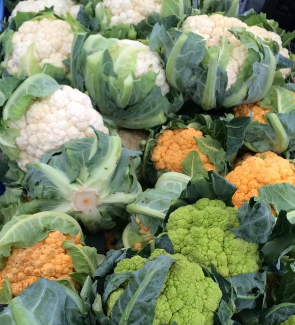 White, Orange and Green Cauliflower