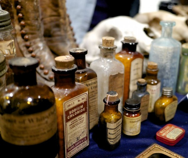 Antique medicine bottles from Ryan Matthew Cohn Oddities