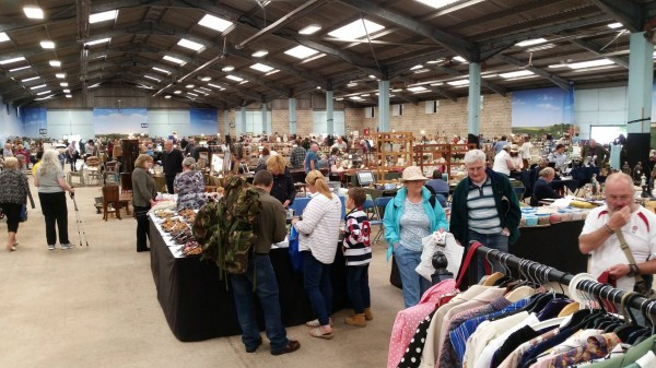 The large indoor Malvern Flea Market happens 10 times a year