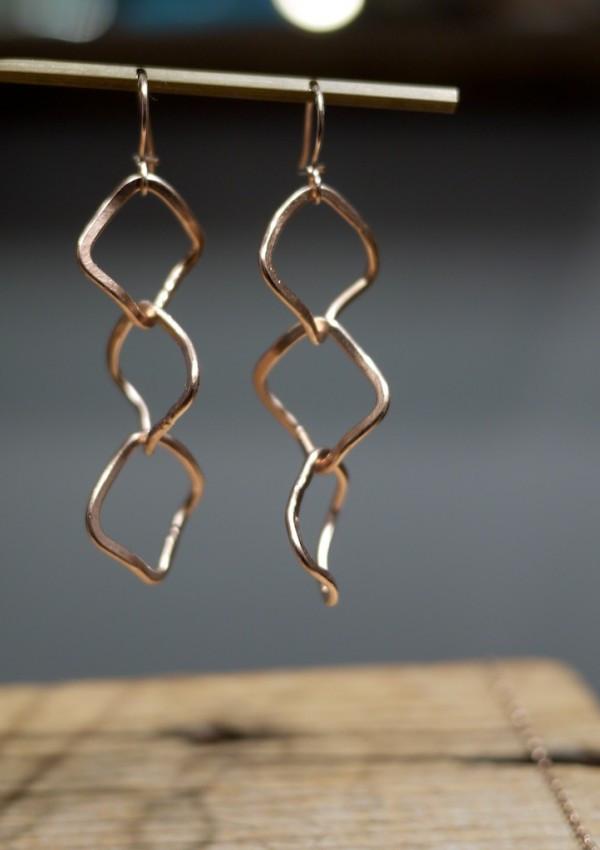 Shaya NY Karen Earrings in Rose Gold