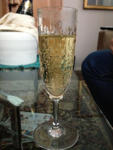 A Glass of Pol Roger's Cuvee Winston Churchill during Hurricane Sandy