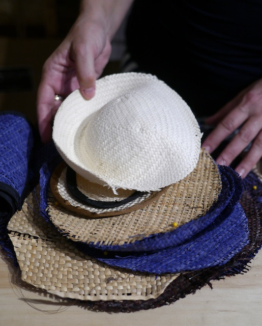 Katherine Carey Millinery - Working With Her Materials
