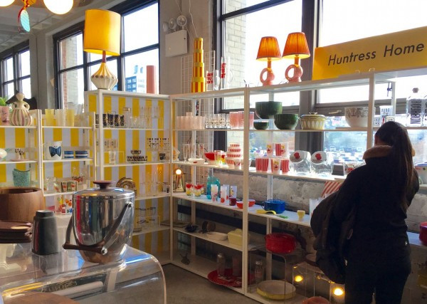 Huntress Home Mid-Century Homeware at the Brooklyn Flea Indoors