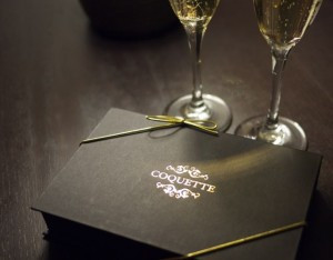 Black Box of Coquette Truffles with Pol Roger Champagne